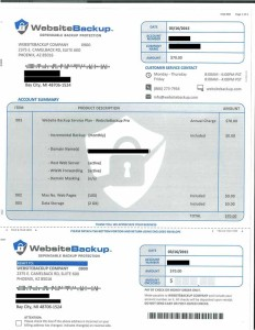 WebsiteBackup Scam Letter