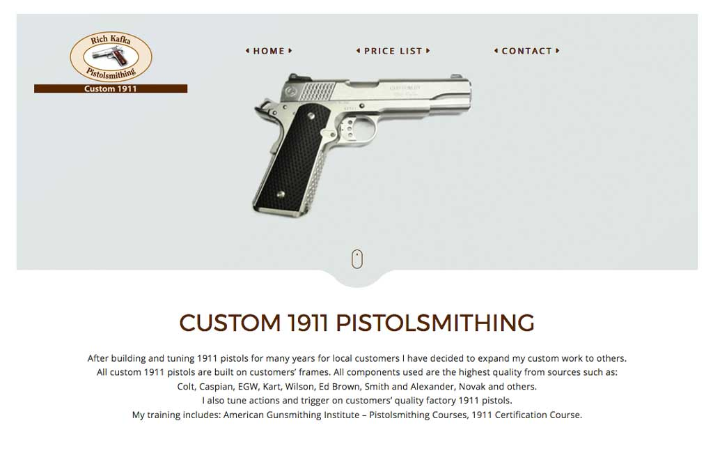 Rich Kalfka Pistolsmithing Website